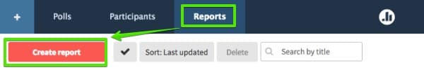 Reporting from the Reports page