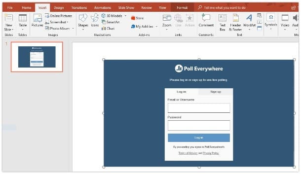 Poll Everywhere for Microsoft 365: Step 4