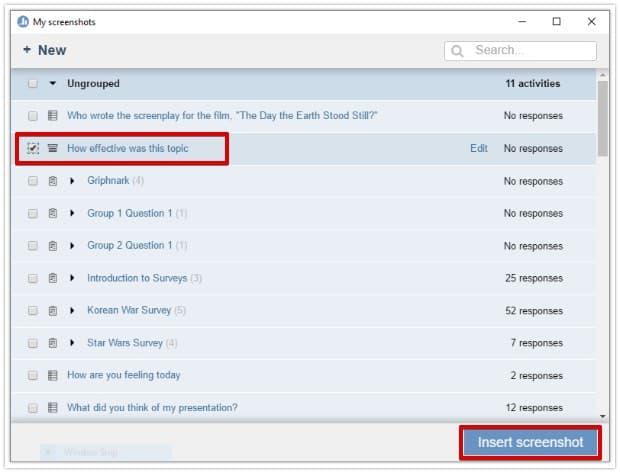 Poll Everywhere for Windows Insert Screenshot: Step 6