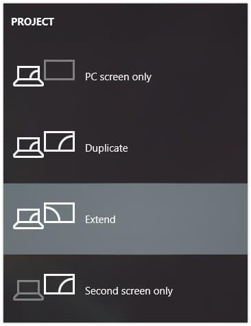 Change display type