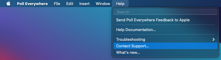 Mac contact support