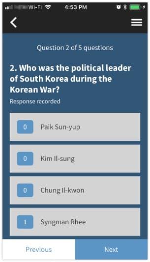 Respond to a survey 1