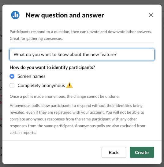 Q&A information