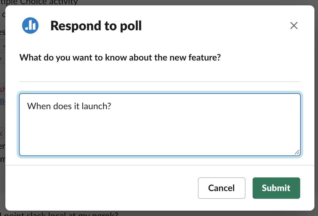 Response window