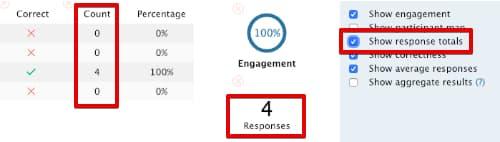 Show response totals