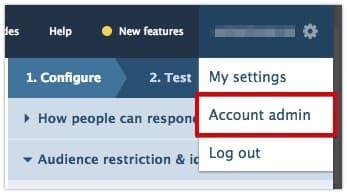 Account admin