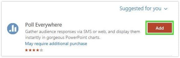 Poll Everywhere for Microsoft 365: Step 3