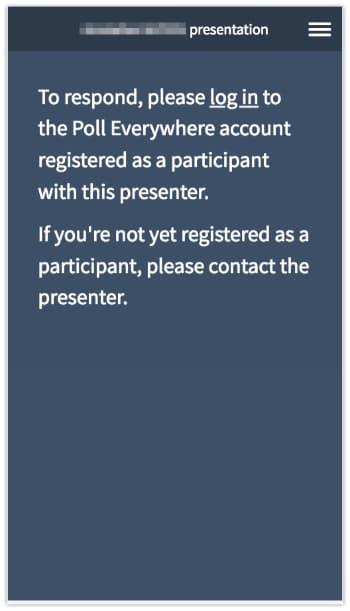 Not registered