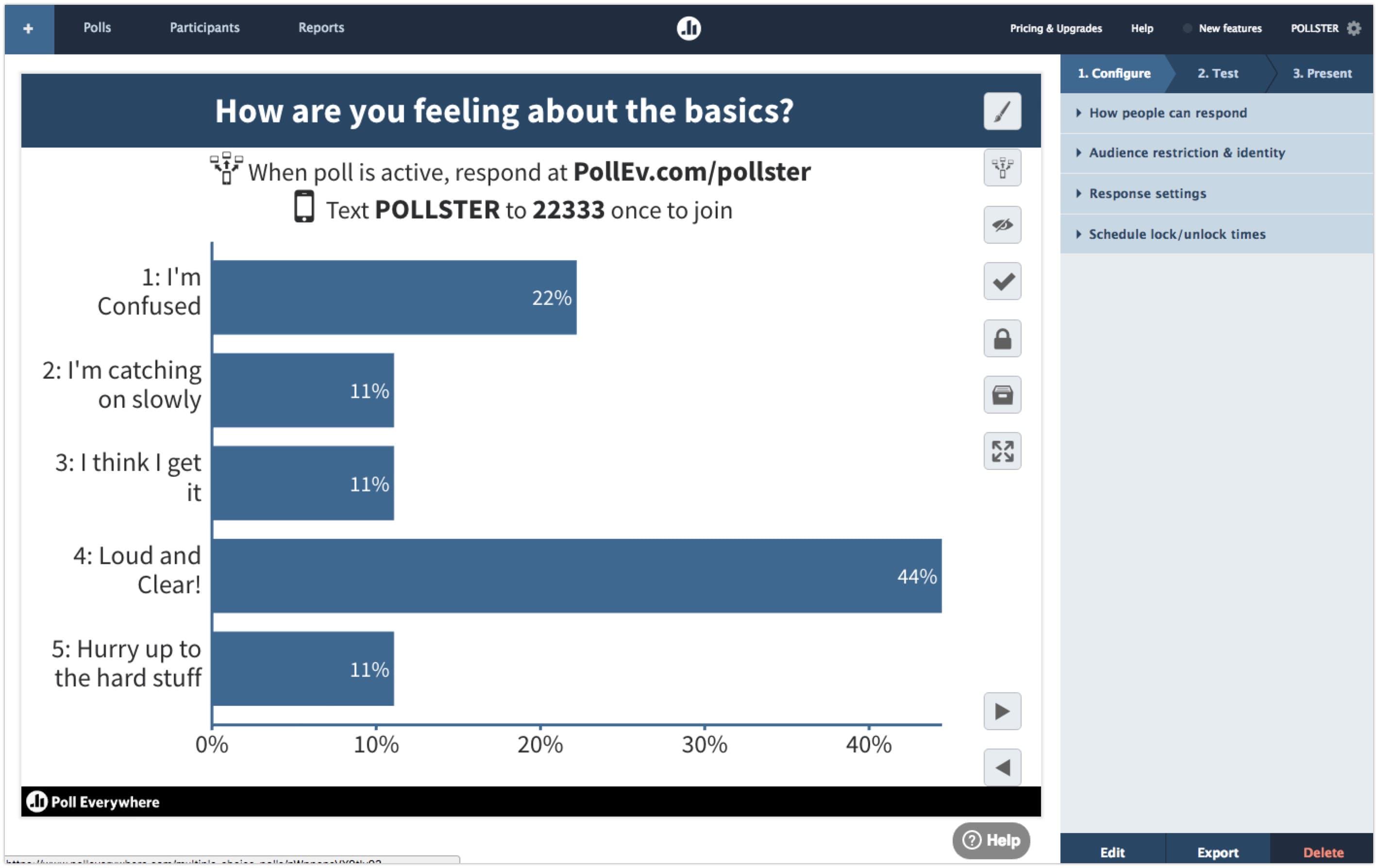 Poll page