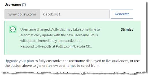 Generate username: Step 5