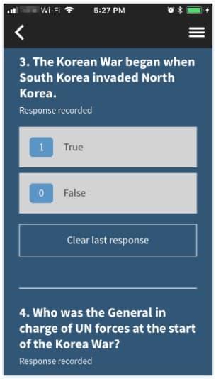 Respond to a survey 2