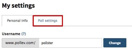 Select Poll settings
