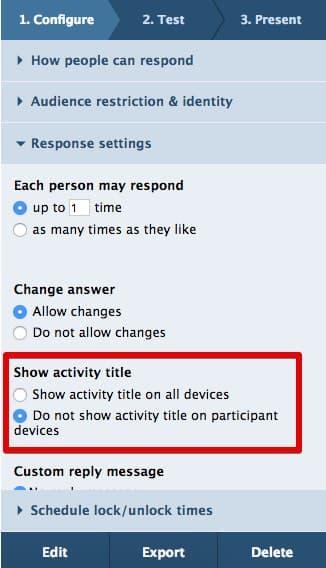 Show activity title 1
